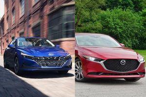 So sánh nhanh Mazda 3 2020 với Hyundai Elantra 2021