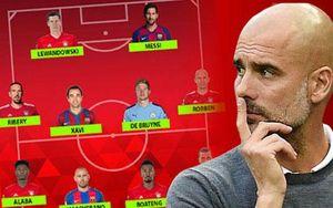 Đội hình hay nhất của Guardiola: Đa số là Bayern và Barca, chỉ có 1 Man City