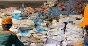 Phát hiện kho hàng chứa hơn 72 tấn lòng heo bốc mùi hôi thối