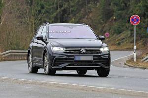 Volkswagen Tiguan facelift bị bắt gặp trên đường thử
