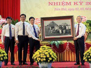 Thường trực Ban bí thư dự Đại hội Đảng bộ huyện Tiền Hải