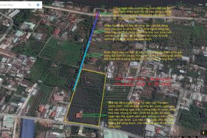 Nhà ngập bỏ hoang ở Sài Gòn nhìn từ Google Maps