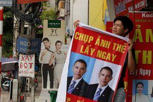In ảnh Tổng thống Obama lên áp phích để quảng bá dịch vụ chụp ảnh lấy liền
