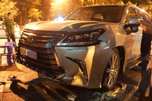 Thanh Hóa: Đại gia phi xe sang Lexus 570 đâm nát nhiều xe máy