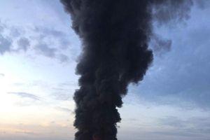Cháy lớn tại một nhà xưởng ở TP HCM