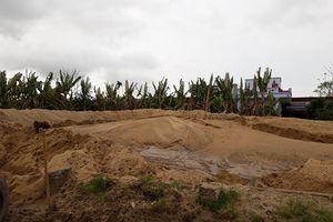 Xã Nga Bạch – Nga Sơn (Thanh Hóa): Chính quyền thờ ơ cho bãi tập kết cát trái phép hoạt động