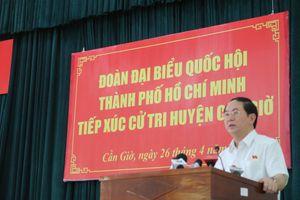 Chủ tịch Nước: Cải thiện cơ sở hạ tầng huyện Cần Giờ là cấp thiết