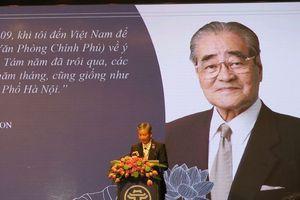 Chủ tịch danh dự AEON nhận danh hiệu 'Vì sự nghiệp xây dựng Thủ đô'