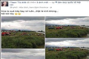 Tung tin máy bay rơi ở Nội Bài, người phụ nữ bị tạm giữ