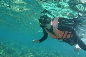 Tôi đã lặn ngắm san hô và chạm vào đáy biển dù không biết bơi