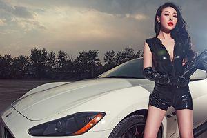 Chân dài khoe vòng 1 bên xế bạc tỷ Maserati GranTurismo