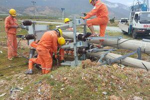 100% khách hàng của điện lực Hà Tĩnh có điện sử dụng sau bão số 10