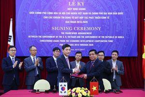 Việt Nam và Hàn Quốc ký kết hiệp định tín dụng trị giá 1,5 tỷ USD