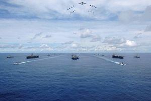 3 biên đội tàu sân bay Mỹ tập trận chung ở Tây Thái Bình Dương