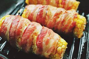 Món ngon mỗi ngày: Bắp cuộn thịt xông khói nướng