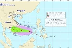 Bão số 14 giật cấp 11 trên biển Đông