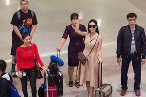 Hoa hậu Đỗ Mỹ Linh rạng rỡ trở về nước sau chiến thắng lịch sử