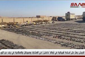 'Hổ Syria' đoạt chiến lợi phẩm kho vũ khí khổng lồ của IS tại Deir Ezzor (video)