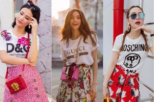 Những mẫu áo thun khiến sao Việt phải 'phát cuồng' năm 2017.