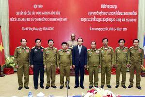 Đoàn đại biểu cấp cao Bộ CA Việt Nam dự Hội thảo chuyên đề công tác CA trong tình hình mới tại Lào
