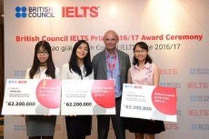 Hội đồng Anh thông báo nhận hồ sơ giải thưởng IELTS khu vực Đông Á trị giá hơn 1,6 tỷ đồng