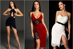 Mẫu 9X khoe khuôn ngực đầy trong loạt váy đỏ - đen