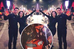 Một đêm 'đi bão' mừng U23 Việt Nam vào chung kết đầy cảm xúc của dàn hot girl - hot boy Việt