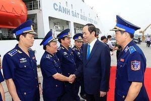 Chủ tịch nước Trần Đại Quang thăm vùng Cảnh sát biển 3