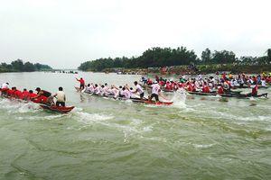 Quảng Nam: Giải đua thuyền truyền thống huyện Đại Lộc trên sông Thu Bồn