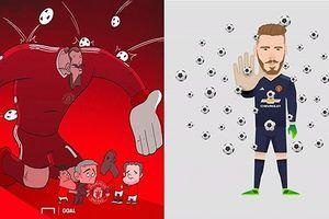 Ảnh chế De Gea 'phủ sóng' khắp mạng xã hội sau trận Sevilla 0-0 MU