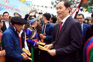 Chủ tịch Nước Trần Đại Quang dự ngày hội 'Sắc xuân trên mọi miền Tổ quốc'