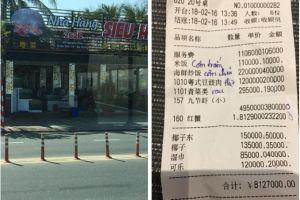Đà Nẵng: Hóa đơn tính tiền bằng chữ Trung Quốc gây 'náo loạn'