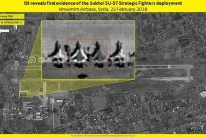 Vệ tinh Israel chụp ảnh máy bay Su-57 của Nga ở Syria