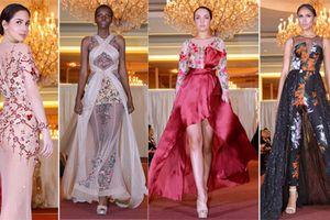 Dàn hoa hậu thế giới trình diễn BST 'Đêm ngàn sao' của NTK Audrey Hiếu Nguyễn