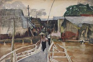 Những miền quê Việt trong tranh màu nước của Lưu Công Nhân