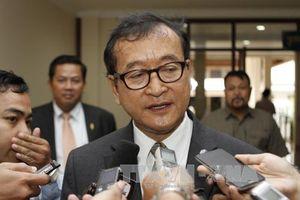 Campuchia tạm thời tịch thu tài sản của cựu thủ lĩnh phe đối lập Sam Rainsy