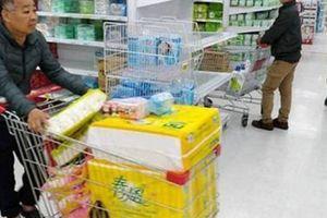Dân Đài Loan đổ xô mua giấy vệ sinh, lãnh đạo kêu gọi bình tĩnh