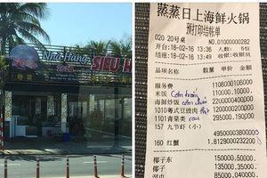 Nhà hàng đưa phiếu tính tiền bằng tiếng Trung bị phạt hơn 12 triệu đồng