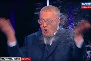 Bầu cử Tổng thống Nga: Ứng cử viên tạt nước, cãi nhau trên truyền hình trực tiếp