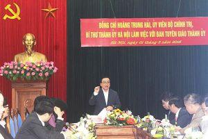 Bí thư Thành ủy Hà Nội: Xây dựng mạng lưới nắm chắc dư luận, tâm tư tình cảm của người dân