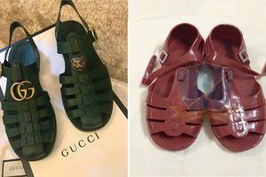 Mẫu sandal mới của Gucci giống hệt đôi dép rọ của Việt Nam