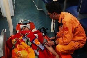 Cứu thuyền viên người nước ngoài bị nhồi máu cơ tim trên biển