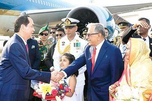 Chủ tịch nước Trần Đại Quang thăm cấp Nhà nước tới Cộng hòa Nhân dân Bangladesh