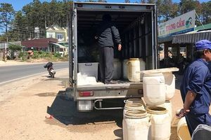Lâm Đồng: Phát hiện 1 người chết, 1 người hôn mê trong ca bin xe tải đông lạnh