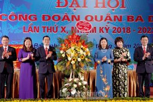 Đại hội X Công đoàn quận Ba Đình (Hà Nội): Không ngừng đổi mới vì lợi ích đoàn viên và NLĐ
