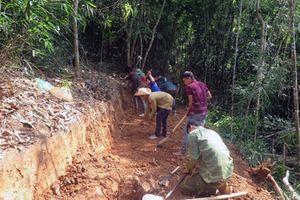 Nghệ An: Hơn 700 người góp sức mở đường xuyên bản làng