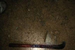 Dùng dao sát hại con, lao đến định giết vợ rồi cố thủ trong nhà