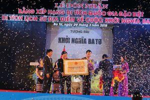 Quảng Ngãi đón nhận bằng công nhận di tích quốc gia đặc biệt địa điểm cuộc khởi nghĩa Ba Tơ