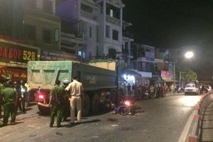 TP HCM: Bắt giam tài xế xe ben tông hàng loạt xe máy