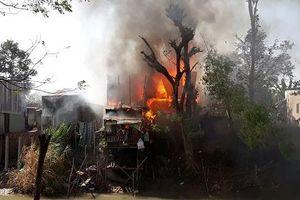 'Bà hỏa' thiêu rụi 4 căn nhà trong Ngày Quốc tế Phụ nữ